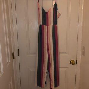 Striped jumpsuit, size M